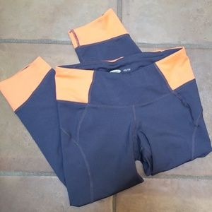 Old Navy Active gray and orange workout capris